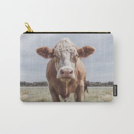 Animal Photography | Cow Portrait Photography | Farm animals Carry-All Pouch