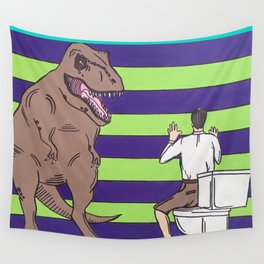 "Jurassic Park ""Died on the Shitter"" Wall Tapestry"