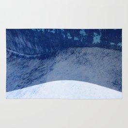 Blue Pool Waves Rug