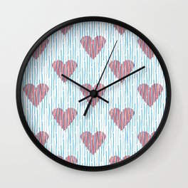 It´s raining love Wall Clock