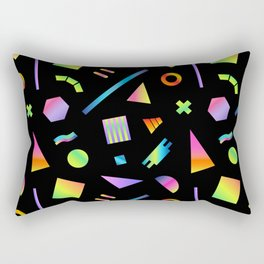Neon Gradient Postmodern Shapes Rectangular Pillow