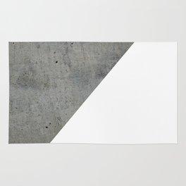 Concrete Vs White Rug