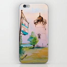 East Chop (Telegraph Hill) Lighthouse Martha's Vineyard Watercolor iPhone Skin