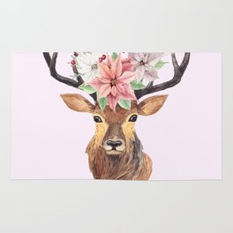 Winter Deer Rug