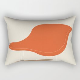 Orange La Chaise Chair by Charles & Ray Eames Rectangular Pillow