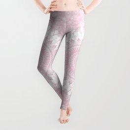 Boho Pink Mandala Leggings