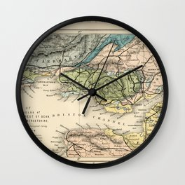 Vintage Map of the Coal Fields of South Wales - Forest Of Dean - Bristol and Somersetshire Wall Clock