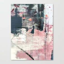 Sweet tooth [7]: a colorful abstract mixed media piece in pink, blues, and white Canvas Print