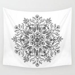 Thrive - Monochrome Mandala Wall Tapestry