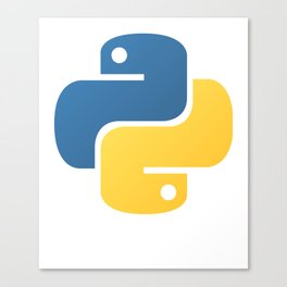 Python Official Logo Scripting Programming Language Canvas Print