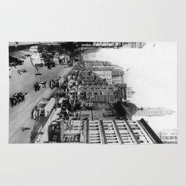 Vintage Broadway NYC Photograph (1920) Rug