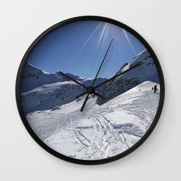 Up here, with sun and snow Wall Clock
