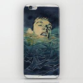 Drowning in Brainwaves- Portrait of Ian Curtis iPhone Skin