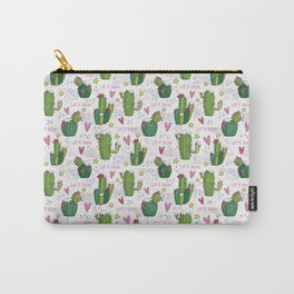Let it Snow Cactus Carry-All Pouch