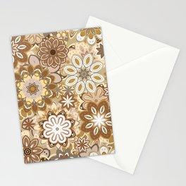 Floral boho mandala pattern Stationery Cards