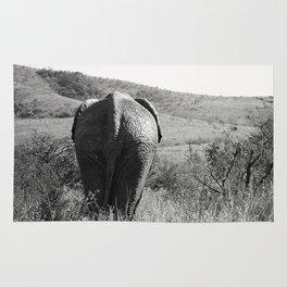Elephant in Africa Rug