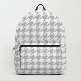Silver Houndstooth Pattern Backpack
