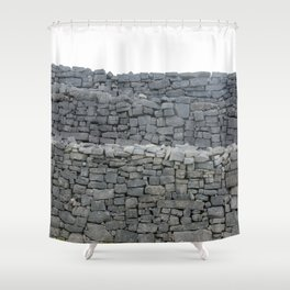 Dry stone wall Shower Curtain
