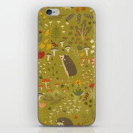 Hedgehog Meadow iPhone Skin