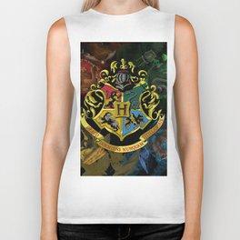 Hogwarts Logo Houses Biker Tank