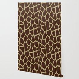 primitive safari animal brown and tan giraffe spots Wallpaper