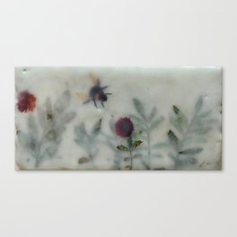 Bee in the Garden (encaustic) Canvas Print