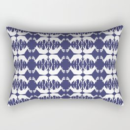 Oh, deer! in paddle blue Rectangular Pillow