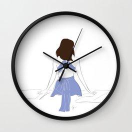 Santorini Wanderlust Fashion Girl Wall Clock