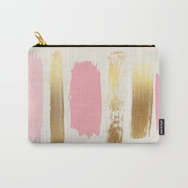Brush Strokes (Rose/Gold) Carry-All Pouch