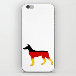German Flag - Dobermann Pinscher iPhone Skin
