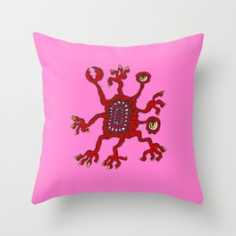Are you ill? Check your Germs! Pinch Throw Pillow
