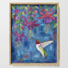 hummingbird & fuchsia Serving Tray