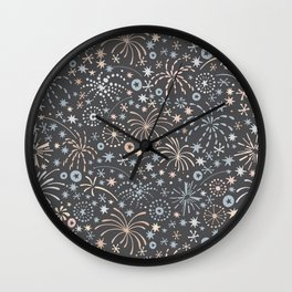 There are fireworks everywhere Wall Clock