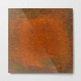 Weathered Copper Texture Metal Print