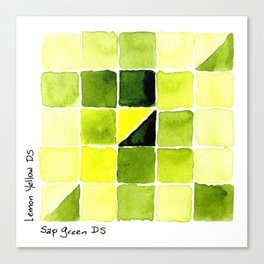 Color Chart - Lemon Yellow (DS) and Sap Green (DS) Canvas Print