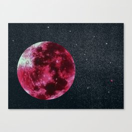 blood moon and star dust Canvas Print