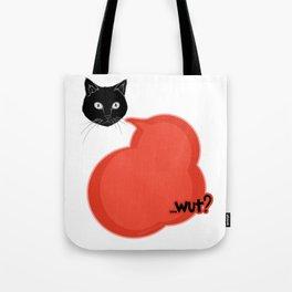 Comic Style- Cute Cat Wut Tote Bag