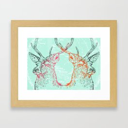 Oh Deer 2 Framed Art Print