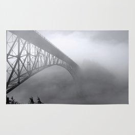 Foggy Deception Pass, Washington Rug
