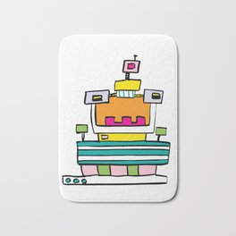 Big Smile Robot Bath Mat