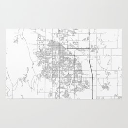 Minimal City Maps - Map Of Fort Collins, Colorado, United States Rug