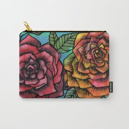 Silk Roses Carry-All Pouch