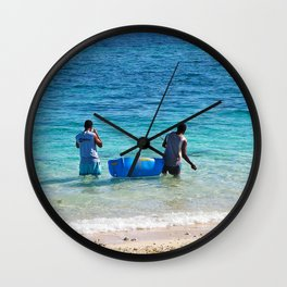 Fiji Days Wall Clock