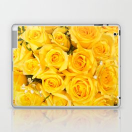 YELLOW ROSES CLUSTERED Laptop & iPad Skin