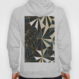 New Art Deco Geometric Pattern - Emerald green and Gold Hoody