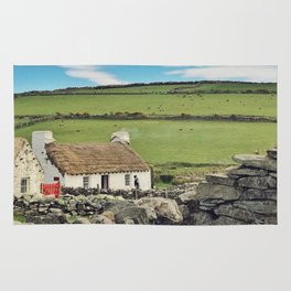 Thatched cottage, Ireland Rug