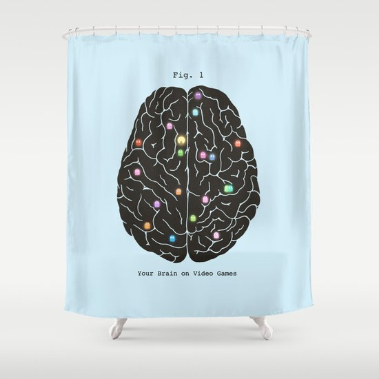 Your Brain On Video Games Shower Curtain