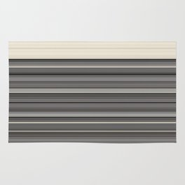Decorative Modern GreyTaupe Clean Lines Rug