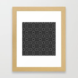 Black and White Mandala Pattern Framed Art Print