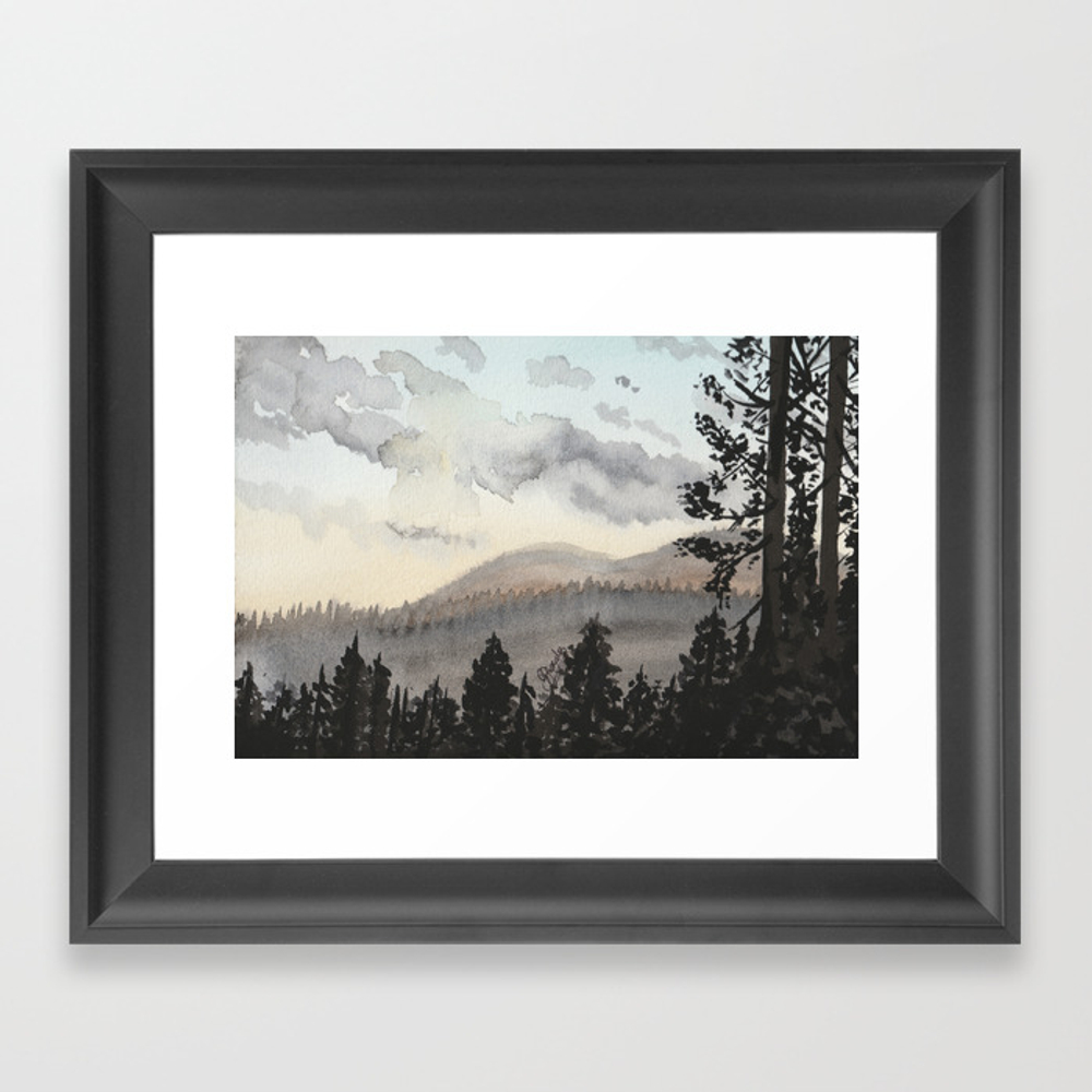 The Place Beyond The Pines Framed Art Print by Gabriellejade FRM9054648